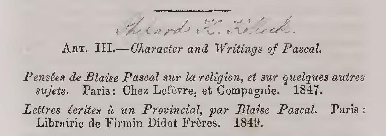 Kollock, Shepard Kosciuszko, Character and Writing of Pascal Title Page.jpg