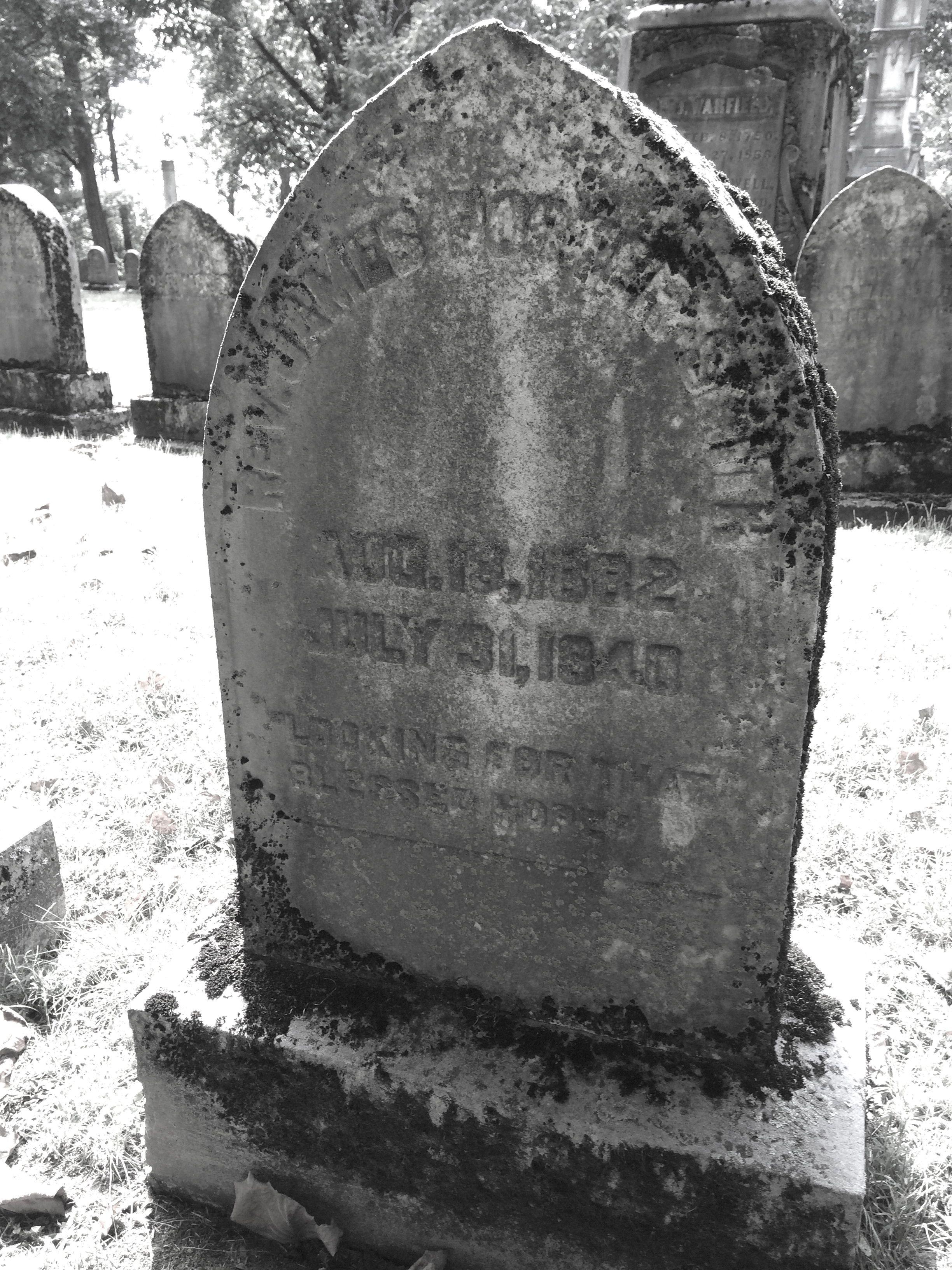 James Porter Smith is buried at Lexington Cemetery, Lexington, Kentucky.