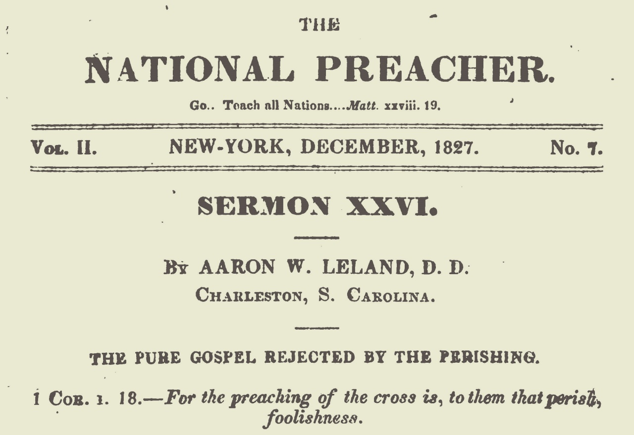 Leland, Aaron Whitney, The Pure Gospel Rejected by the Perishing Title Page.jpg