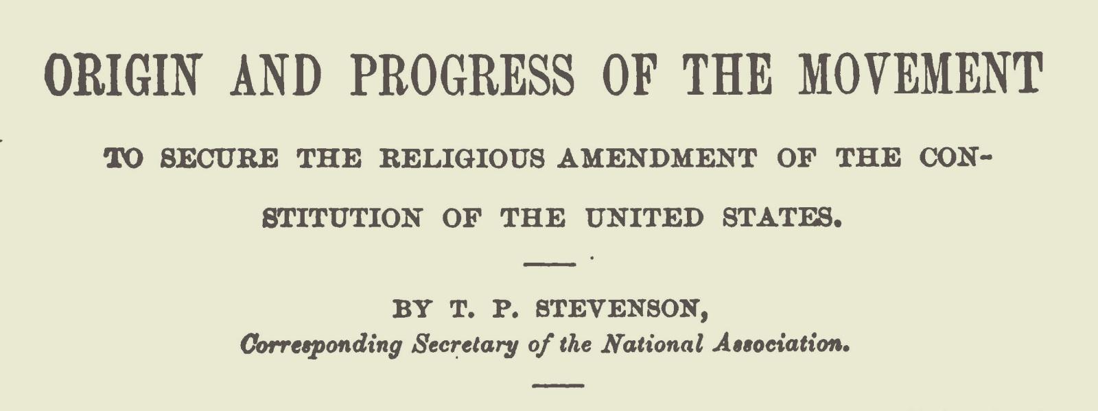 Stevenson, Thomas Patton, Origin and Progress of the Movement Title Page.jpg