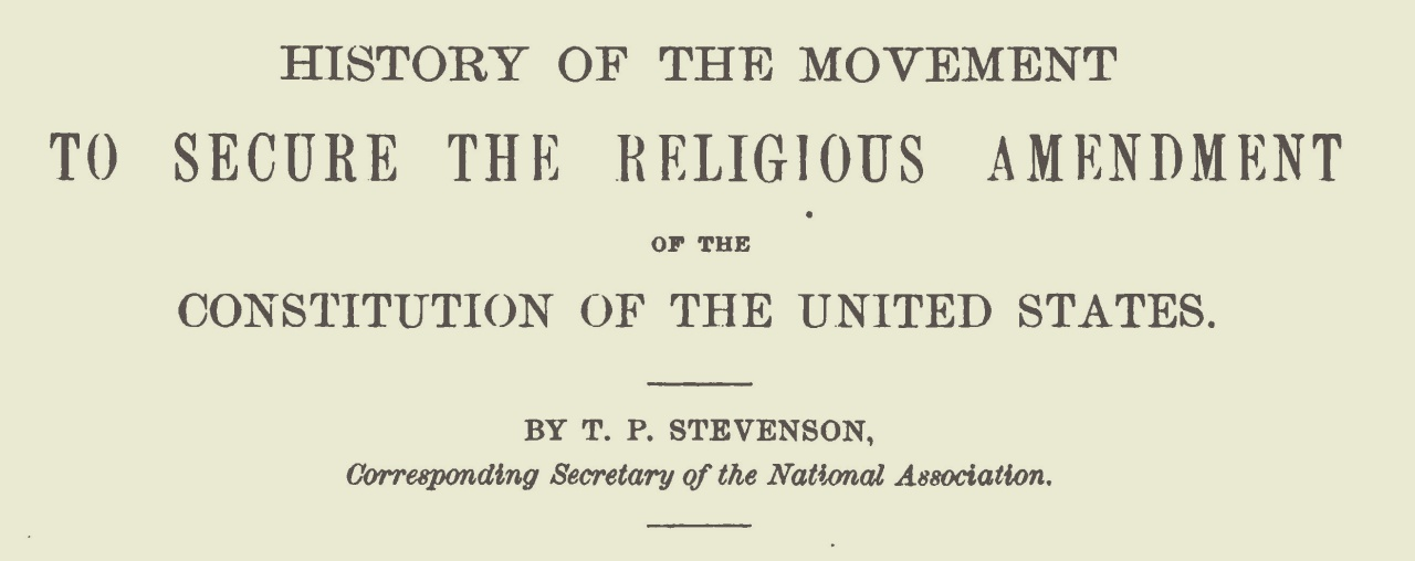 Stevenson, Thomas Patton, History of the Movement Title Page.jpg