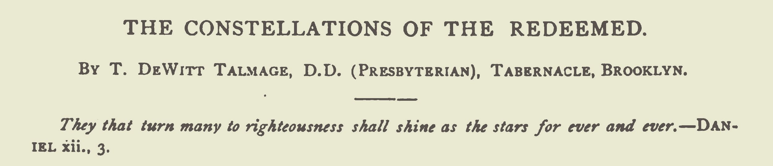 Talmage, Thomas De Witt, The Constellations of the Redeemed Title Page.jpg