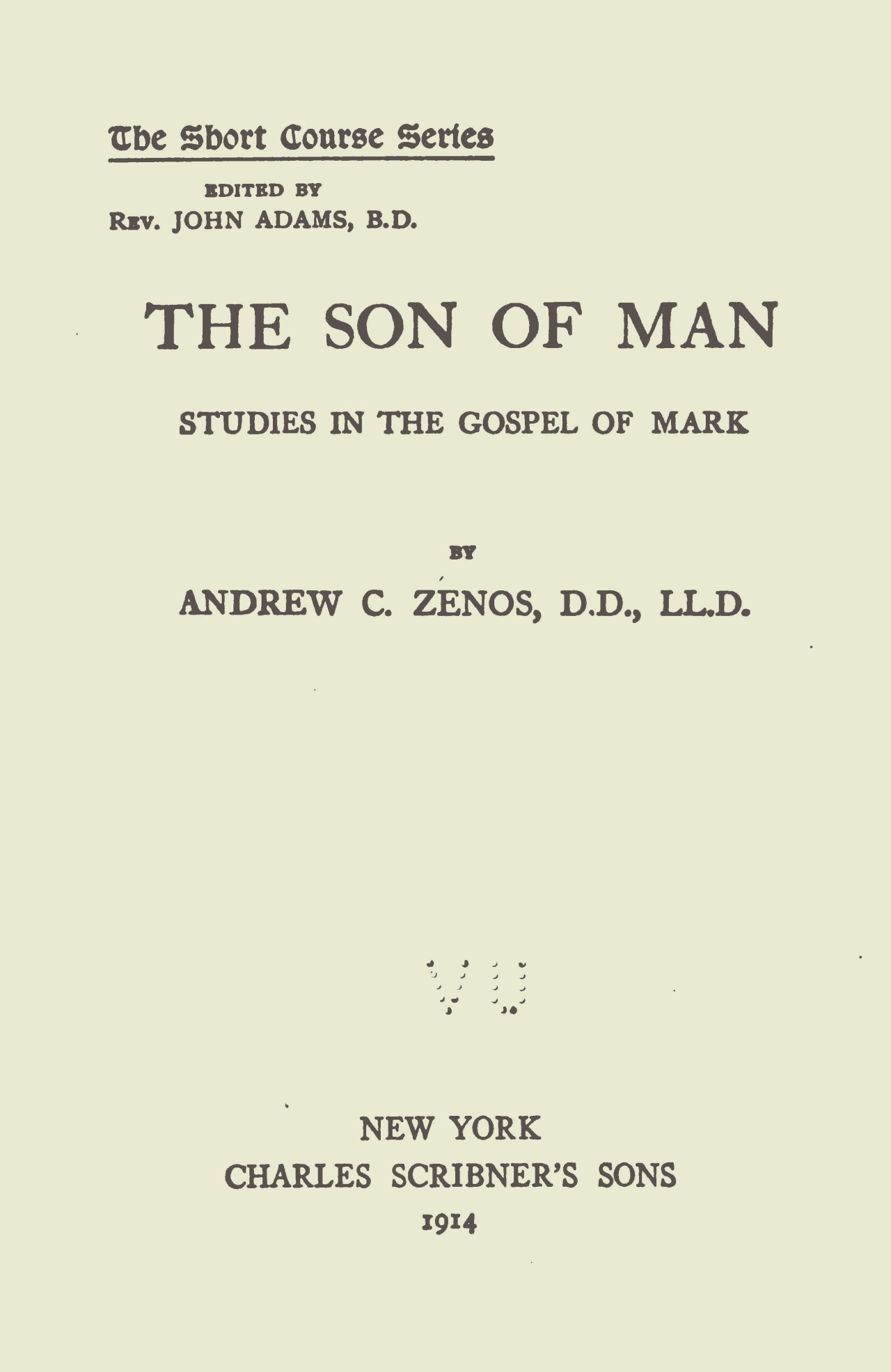 Zenos, Andrew Constantinides, The Son of Man Title Page.jpg