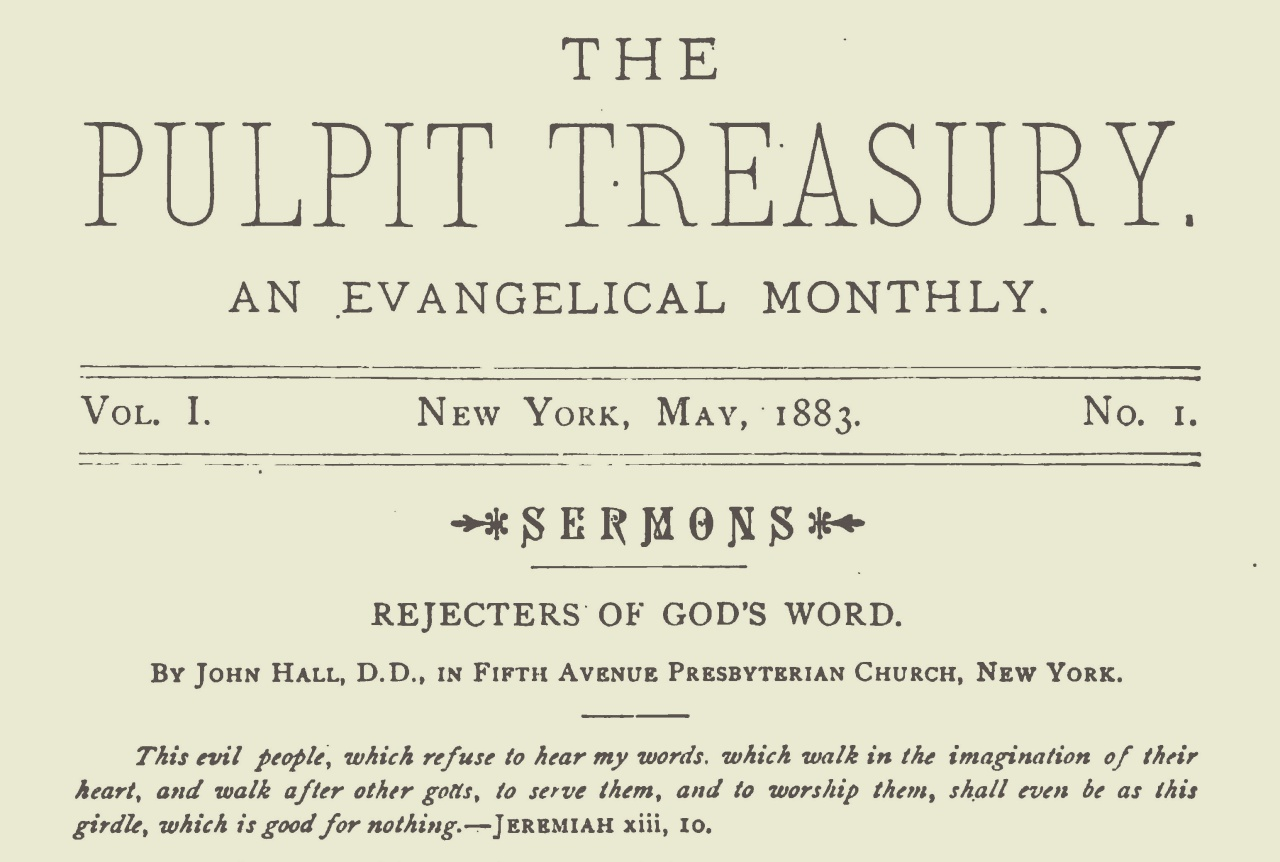 Hall, John, Rejectors of God's Word Title Page.jpg