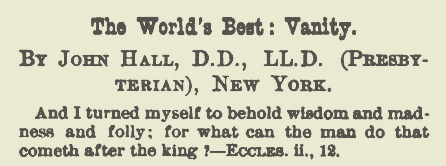 Hall, John, The World's Best Vanity Title Page.jpg