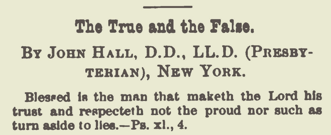 Hall, John, The True and the False Title Page.jpg