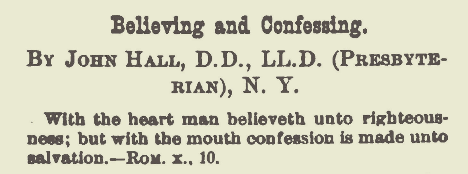 Hall, John, Believing and Confessing Title Page.jpg