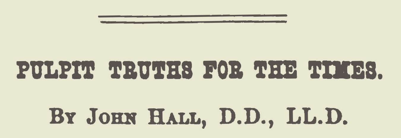 Hall, John, Pulpit Truths for the Times Title Page.jpg
