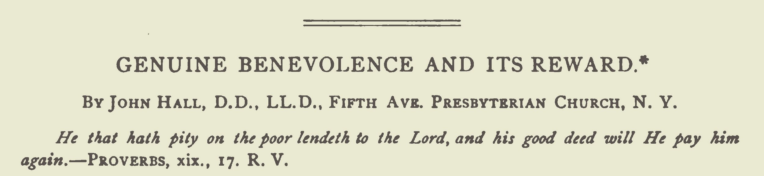 Hall, John, Genuine Benevolence and Its Reward Title Page.jpg