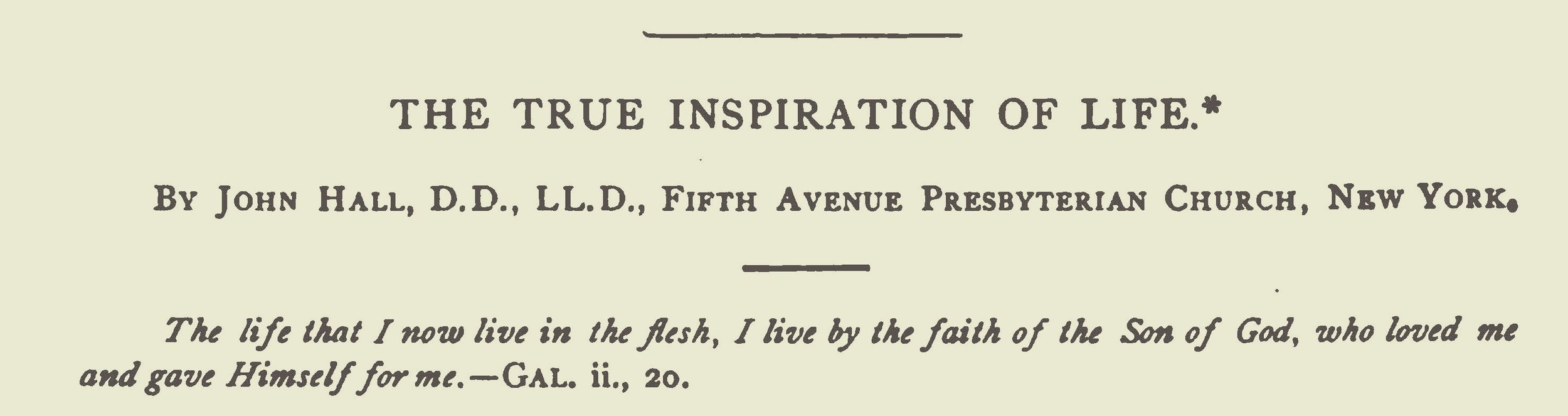 Hall, John, The True Inspiration of Life Title Page.jpg