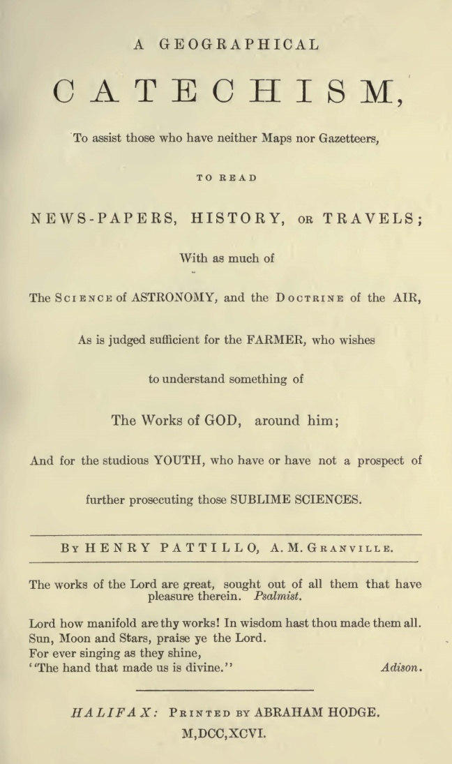 Pattillo, Henry, A Geographical Catechism Title Page cropped.jpg