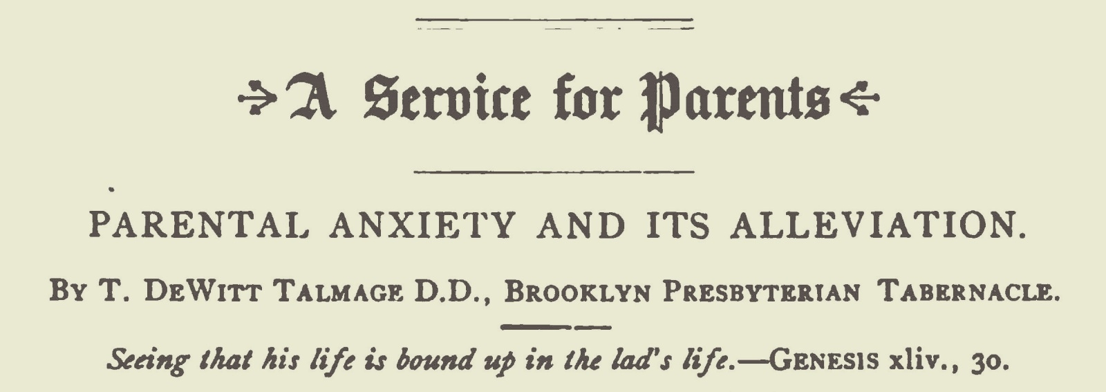 Talmage, Thomas De Witt, Parental Anxiety and Its Alleviation Title Page.jpg
