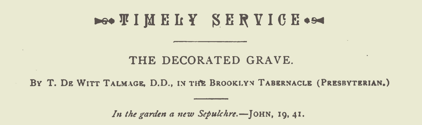 Talmage, Thomas De Witt, The Decorated Grave Title Page.jpg