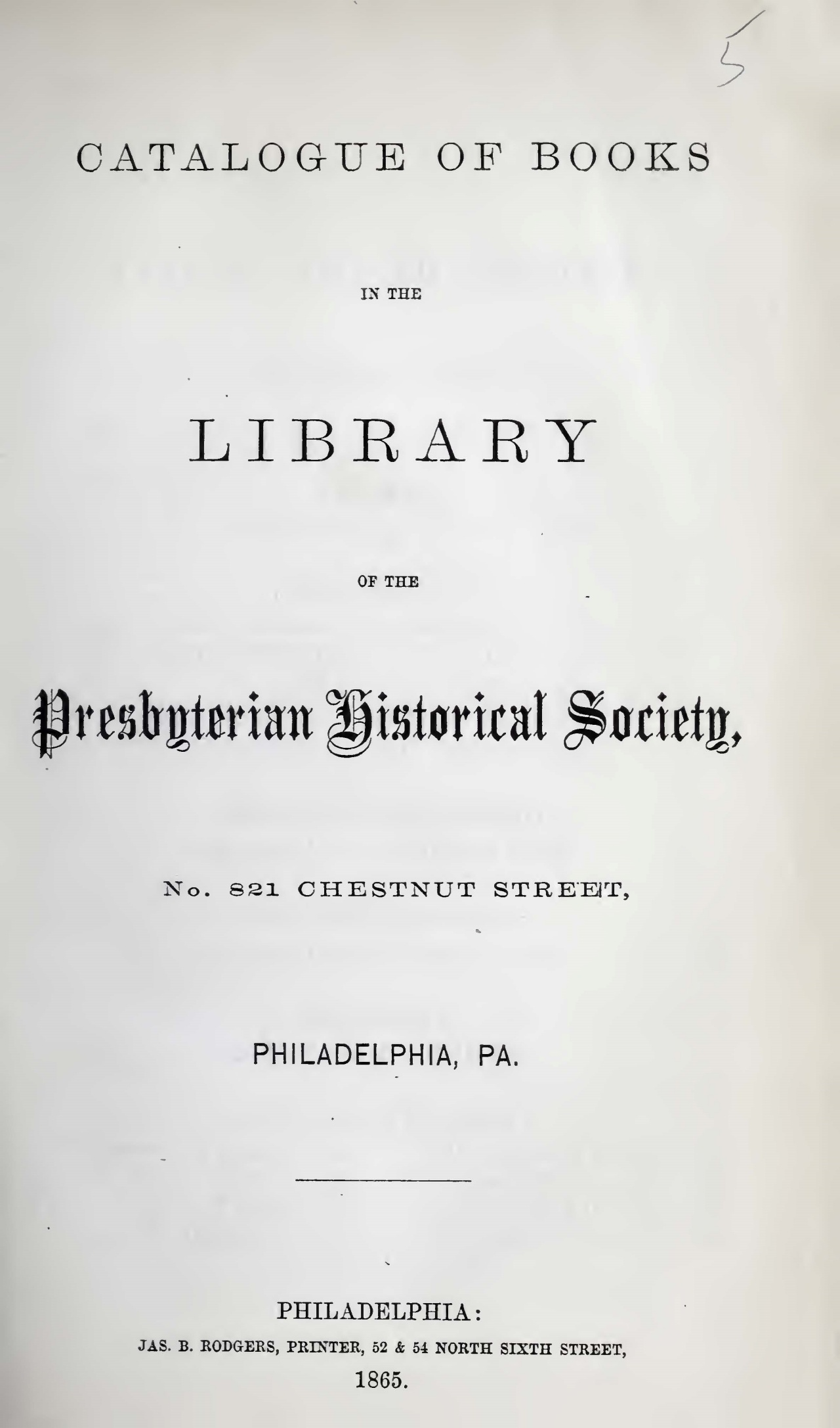 Agnew, Samuel, Catalogue of Books in the Library of the PHS Title Page.jpg
