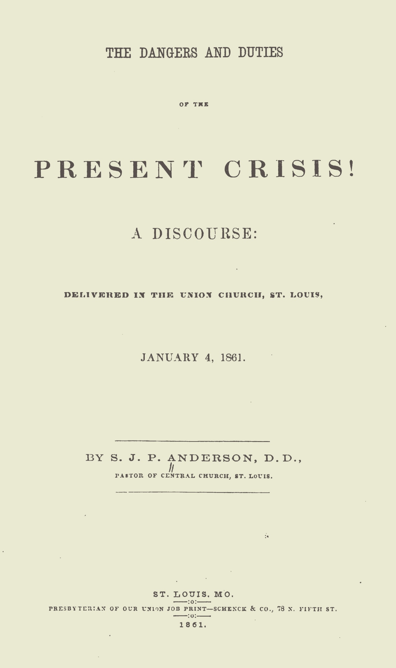 Anderson, Samuel James Pierce, The Dangers and Duties of the Present Crisis Title Page.jpg