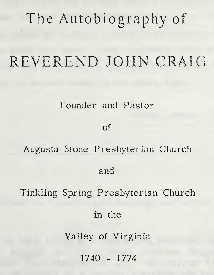 Craig, John, Autobiography Title Page.jpg