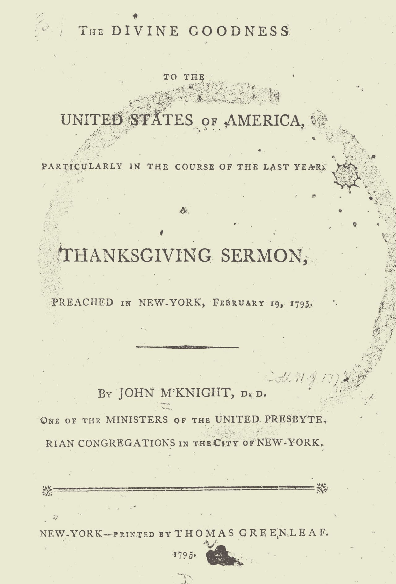 McKnight, John, The Divine Goodness to the United States Title Page.jpg