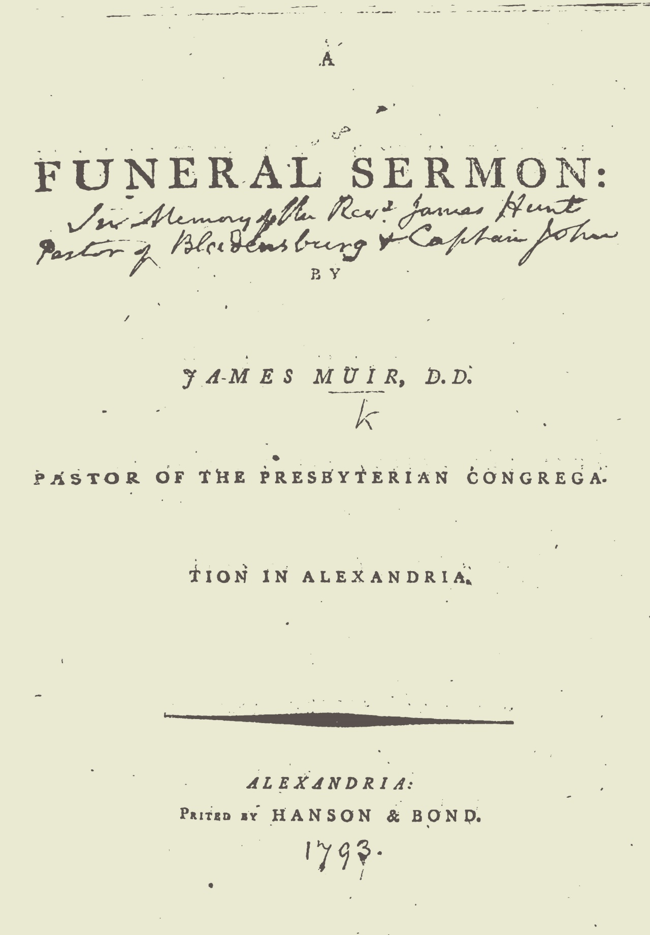 Muir, James, A Funeral Sermon Title Page.jpg