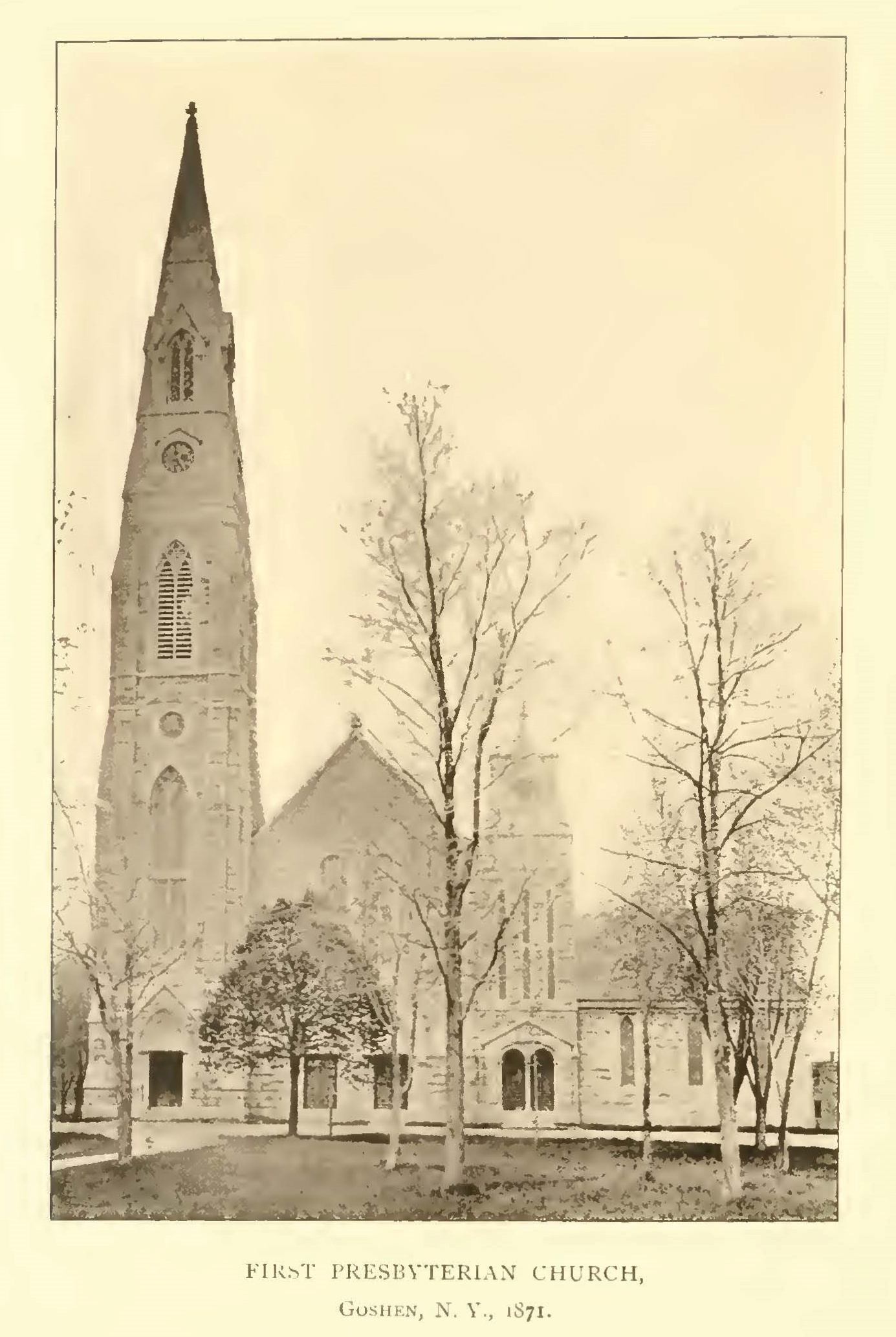 Nathan Ker served as pastor of the First Presbyterian Church of Goshen, New York for 38 years.