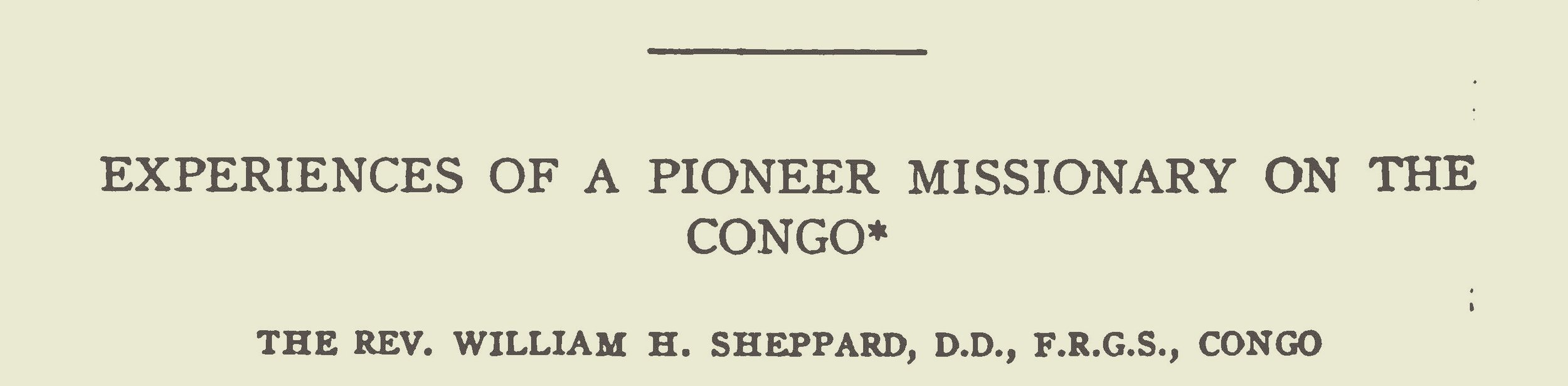 Sheppard, William Henry, Experiences of a Pioneer Missionary on the Congo Title Page.jpg