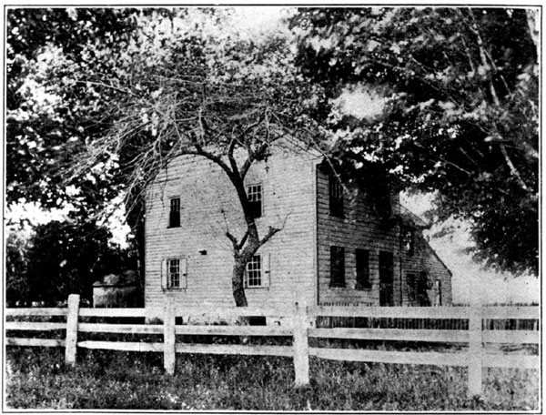 The house in which Philip Vickers Fithian was raised in Greenwich, New Jersey.