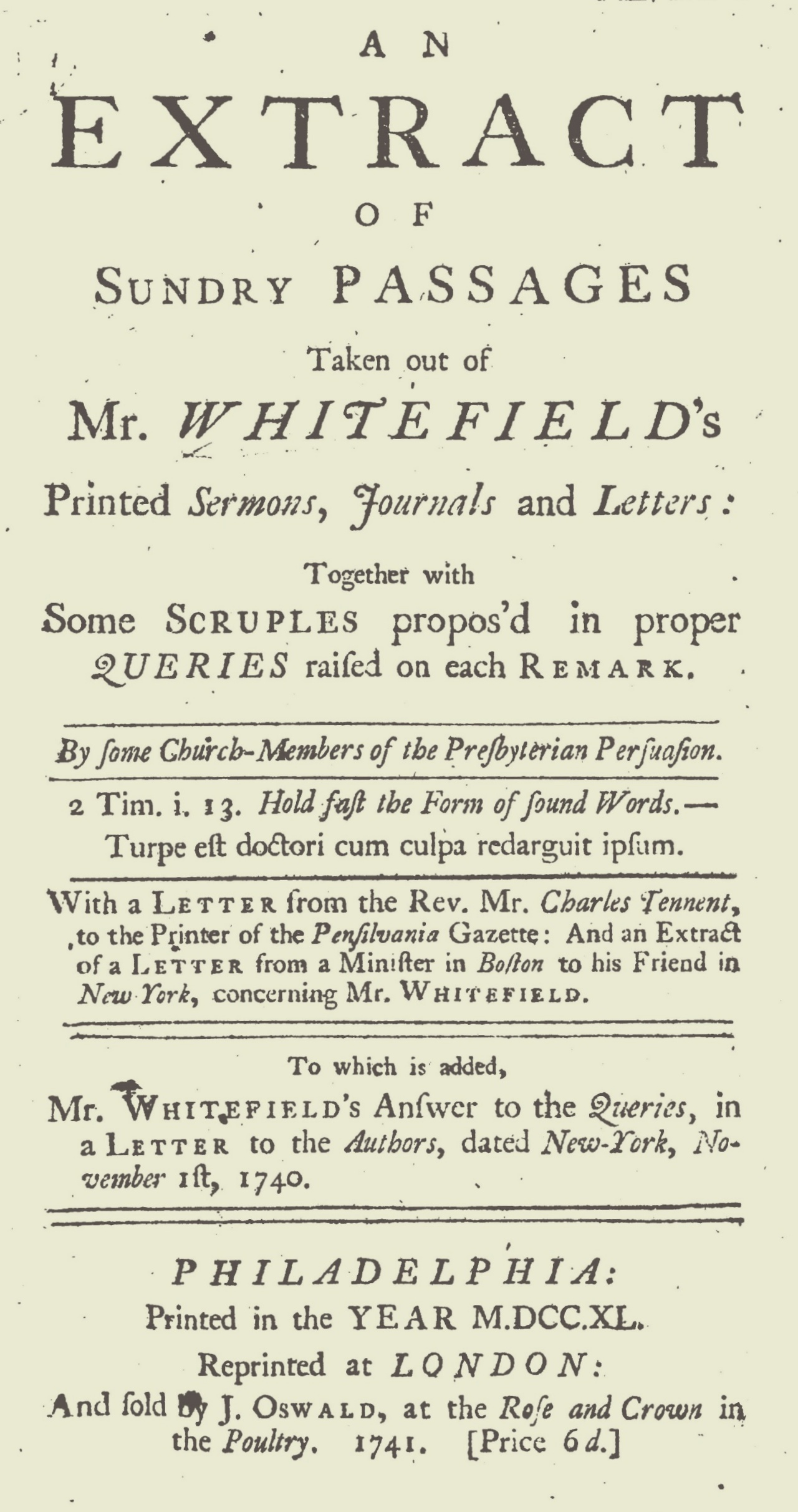 Evans, Thomas, The Querists Title Page.jpg