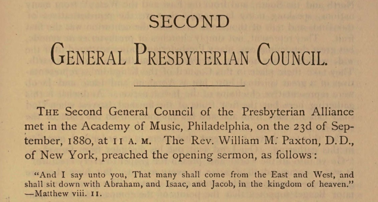 Paxton, William Miller, Opening Sermon Title Page.jpg