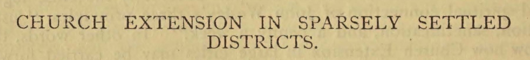 Reid, William James, Church Extension in Sparsely Settled Districts Title Page.jpg