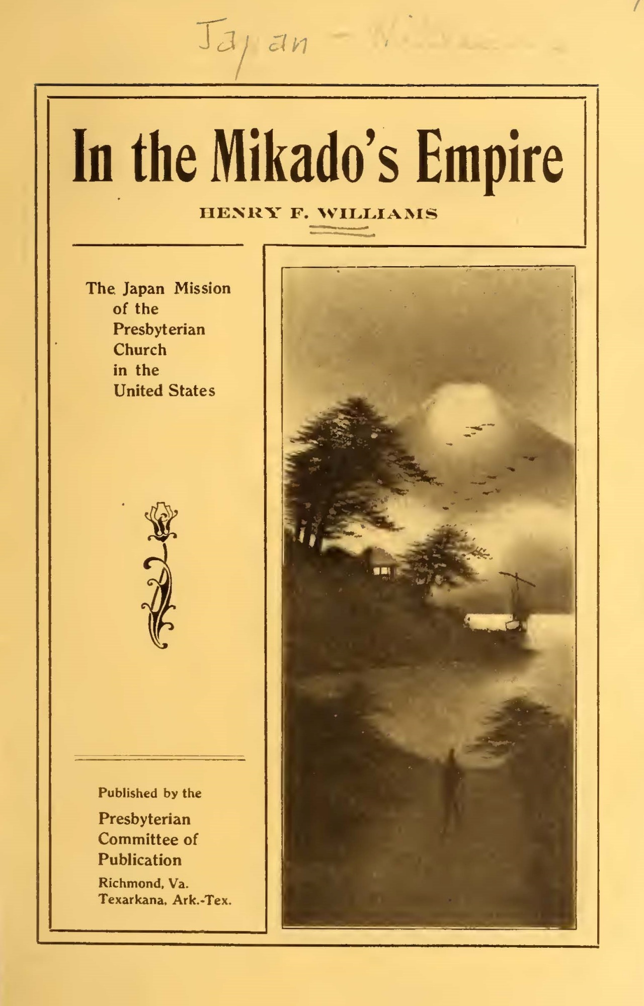 Williams, Henry Francis, In the Mikado's Empire Title Page.jpg
