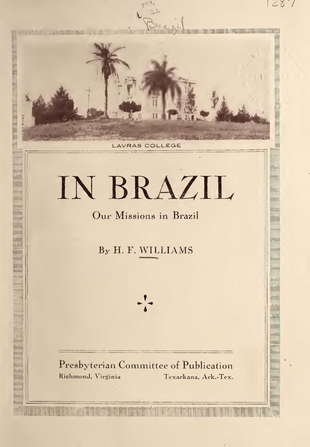 Williams, Henry Francis, In Brazil Title Page.jpg