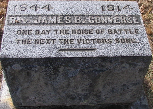 James Booth Converse is buried at Blountville Cemetery, Blountville, Tennessee.