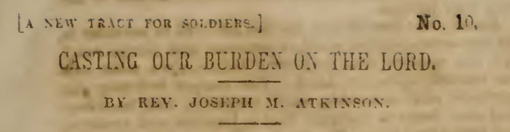 Atkinson, Joseph Mayo, Casting Our Burden on the Lord Title Page.jpg