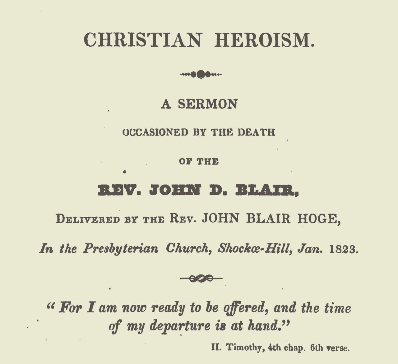 Hoge, Sr., John Blair, Christian Heroism Title Page.jpg