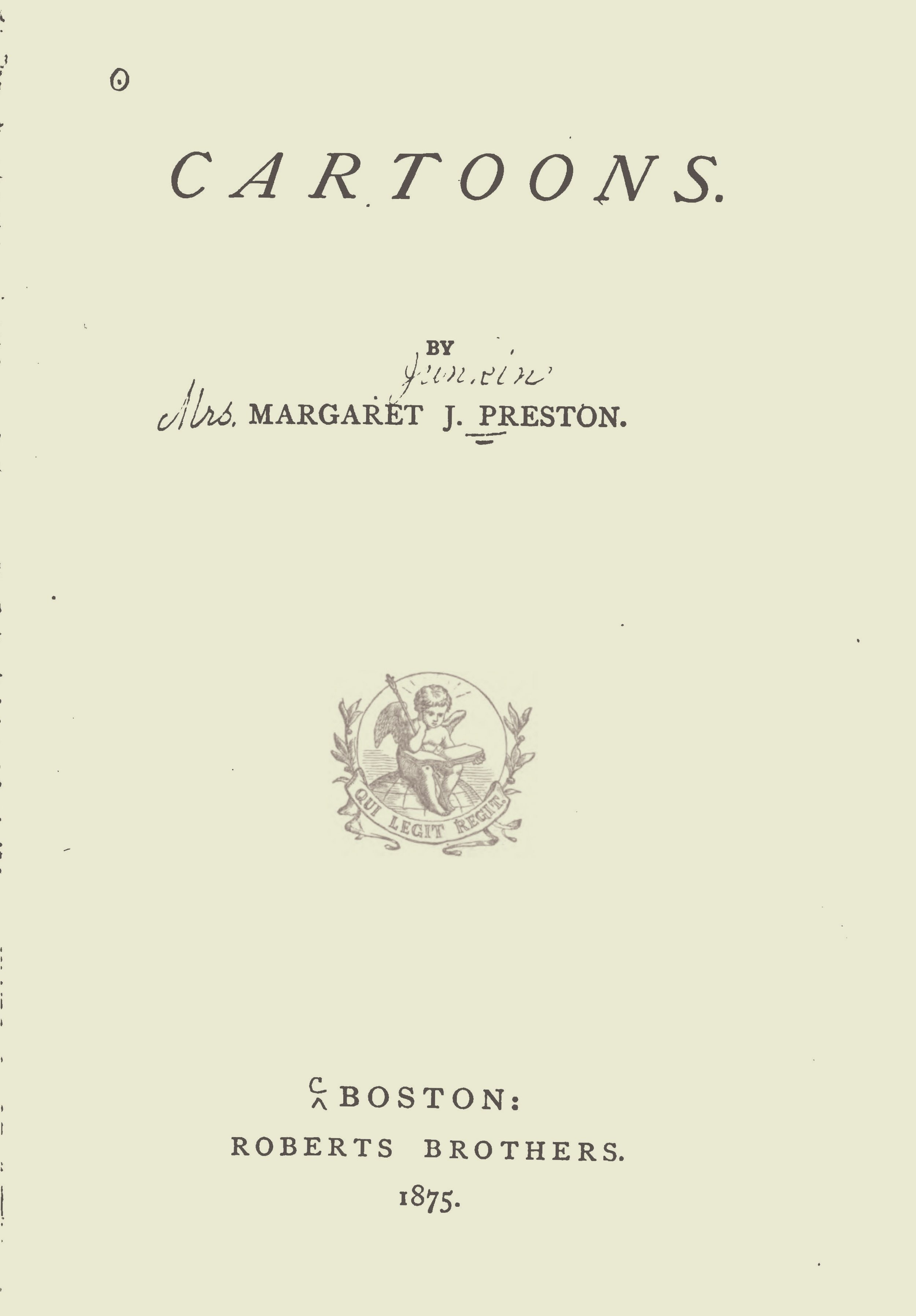 Preston, Margaret Junkin, Cartoons Title Page.jpg