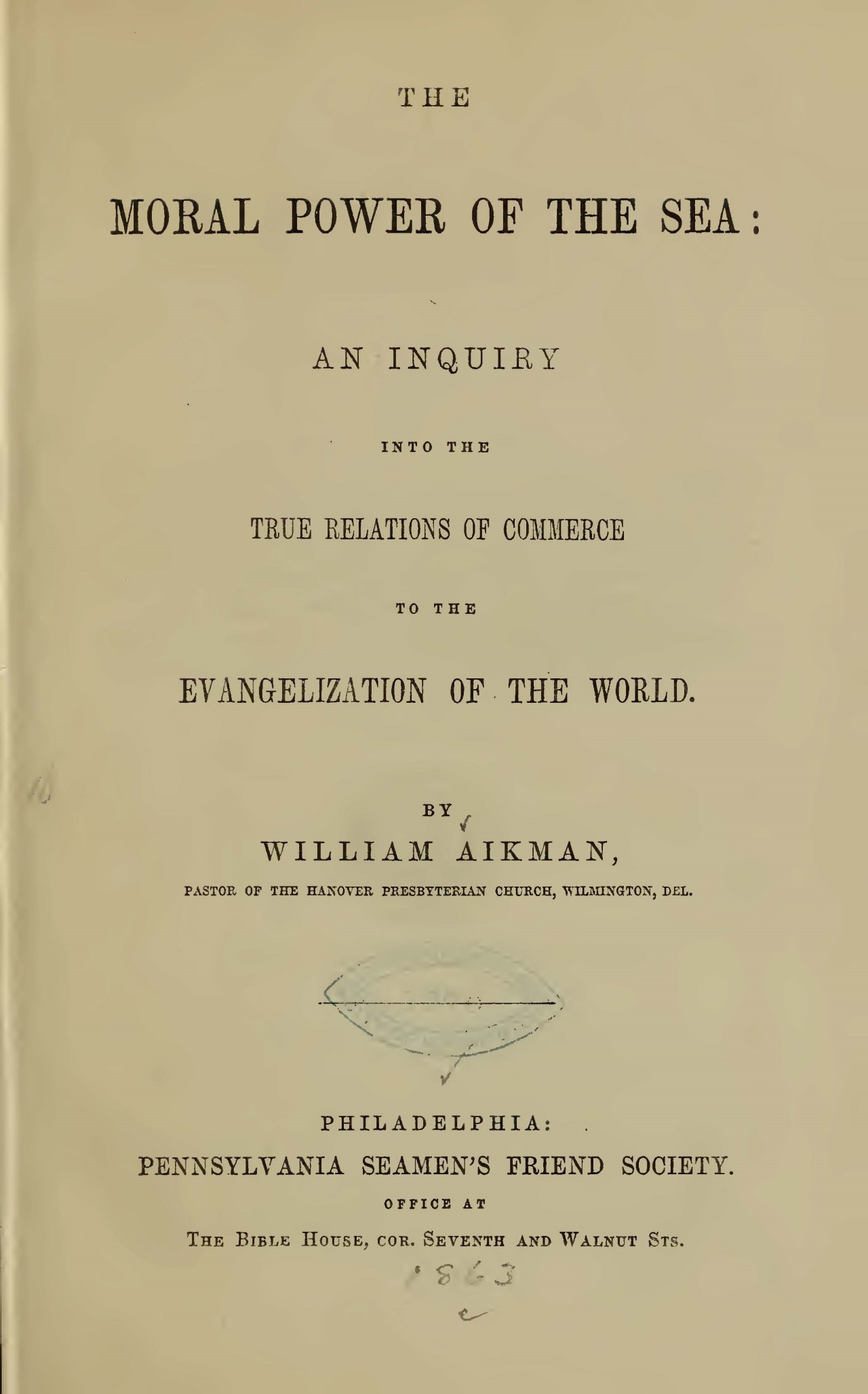 Aikman, William, The Moral Power of the Sea Title Page.jpg