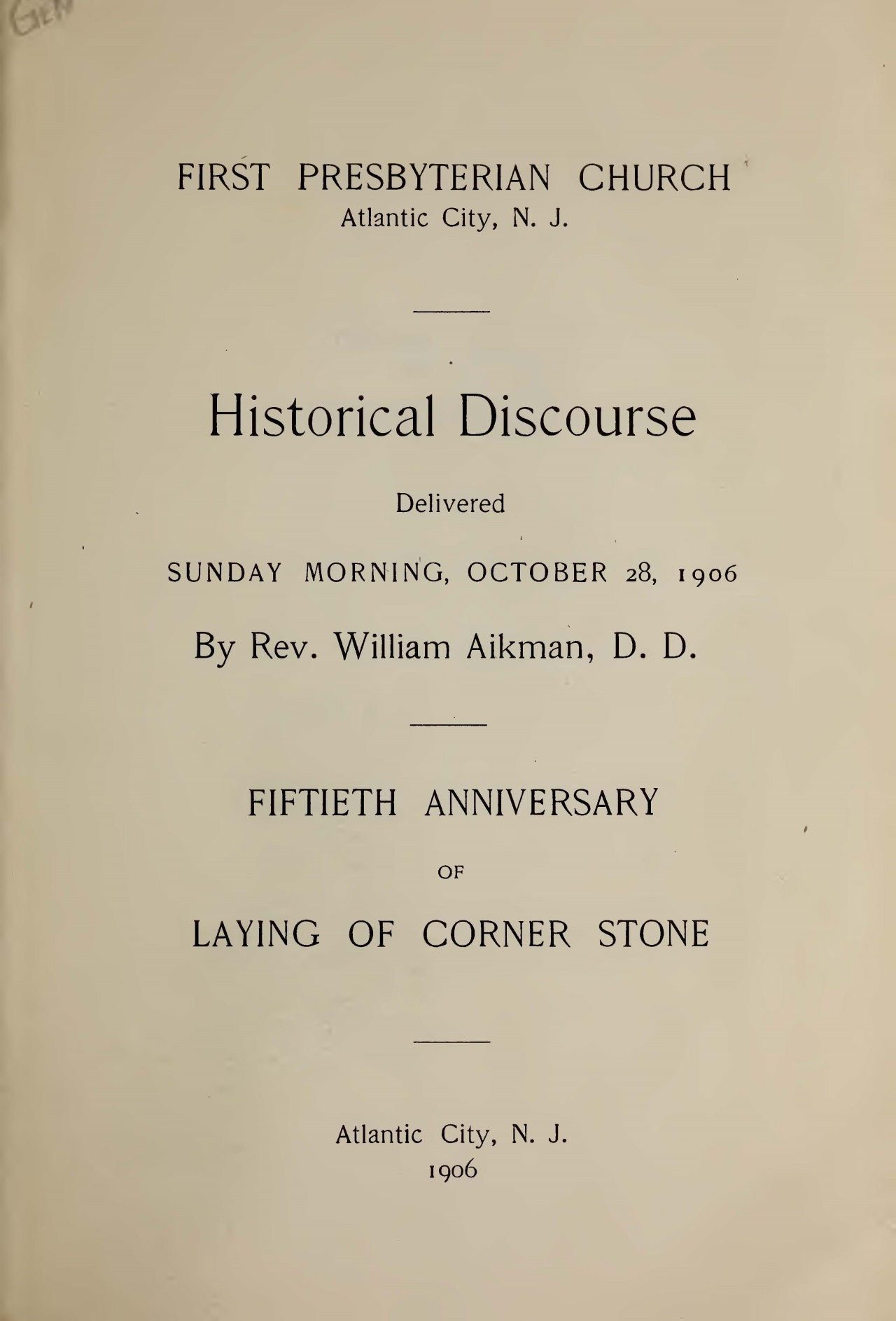 Aikman, William, Historical Discourse Title Page.jpg