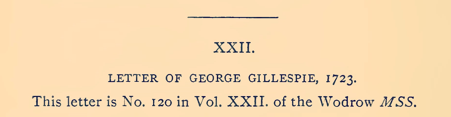 Gillespie, George, 1723 Letter Title Page.jpg