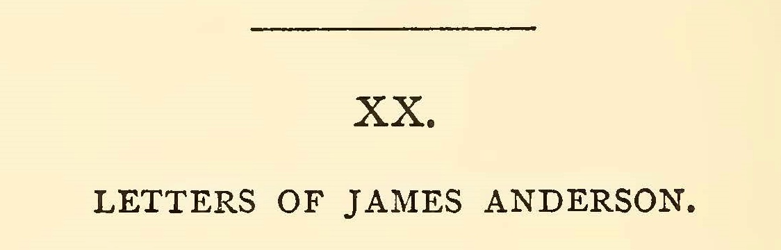 Anderson, James, Five Letters Title Page.jpg