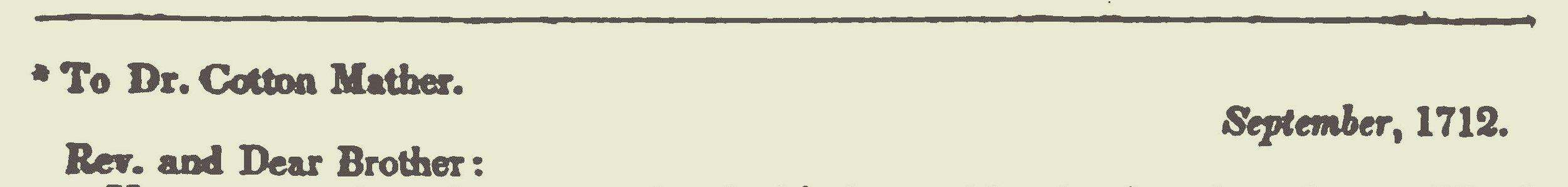Hampton, John, 1712 Letter to Cotton Mather Title Page.jpg