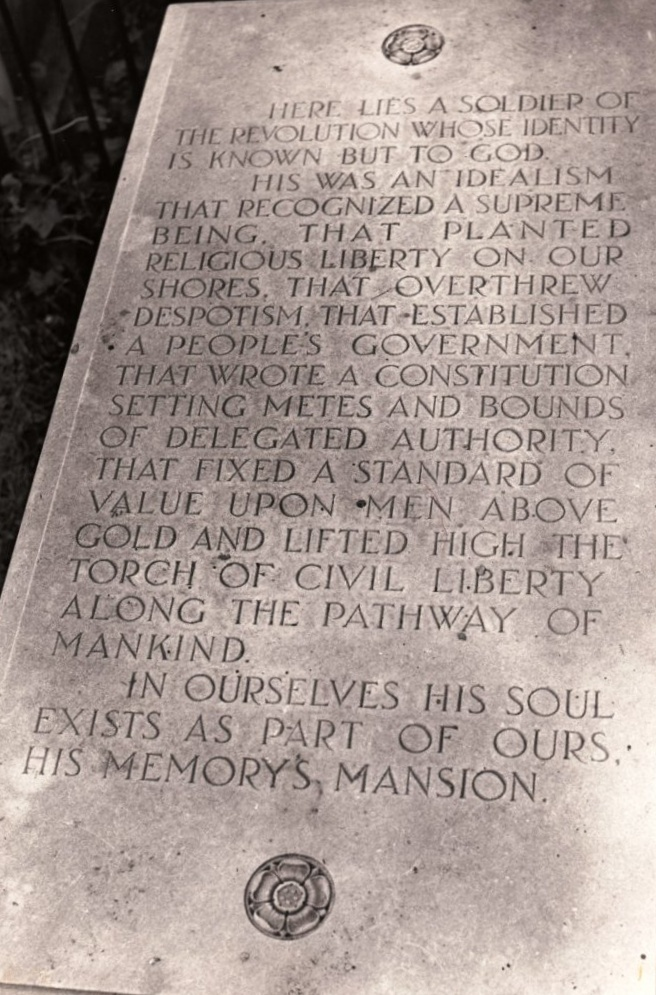Tomb of the Unknown Revolutionary War Soldier, Old Presbyterian Meeting House, Alexandria, Virginia