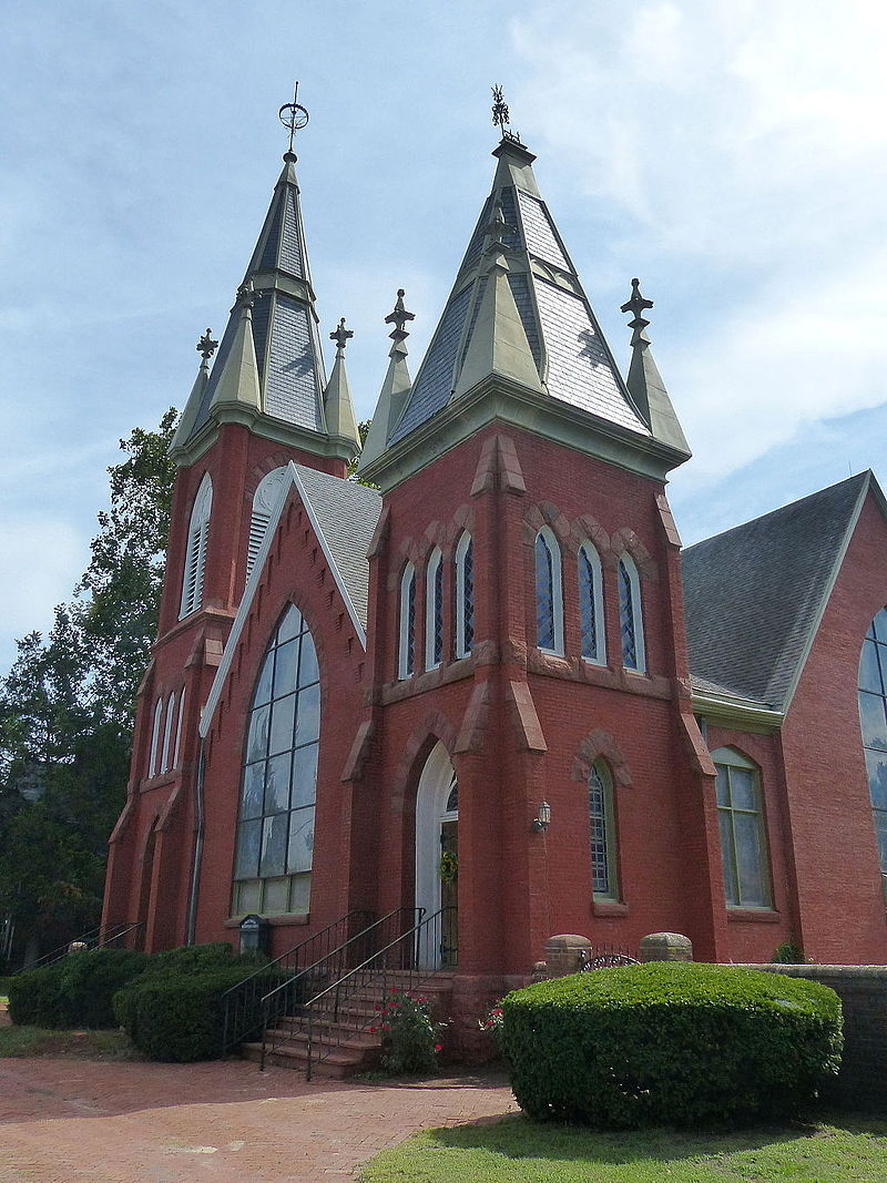 John Hampton (one of the original seven members of the first American Presbytery) served as a minister to the Presbyterian congregation in Snow Hill, Maryland. The present building, known as Makemie Memorial Presbyterian Church, was constructed in 1887-1890.