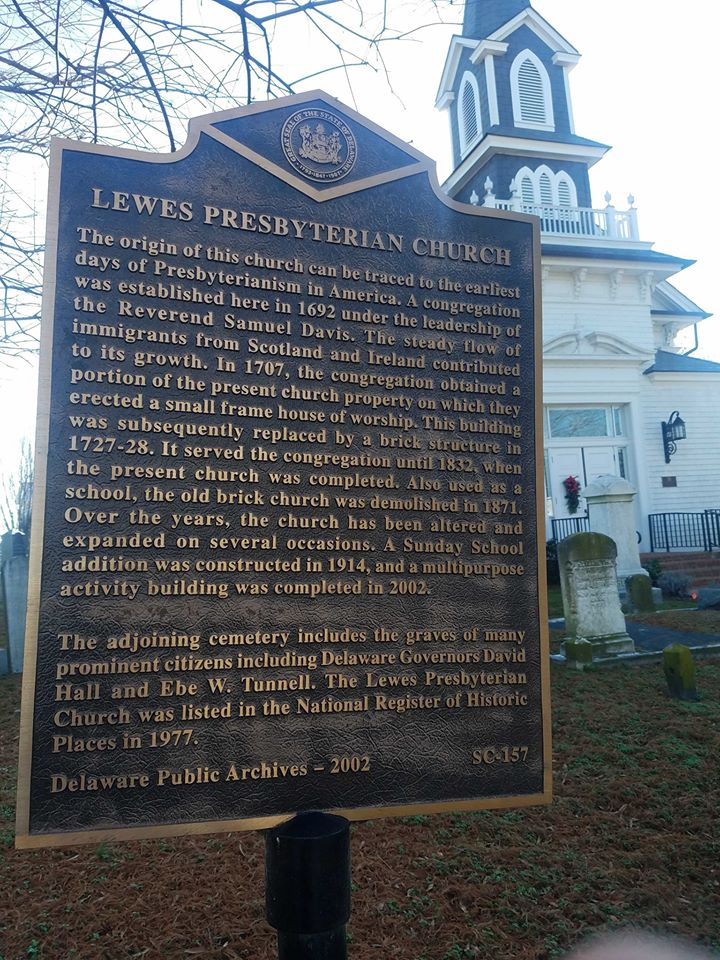 Samuel Davis, Sr. (one of the original seven members of the first American Presbytery) established the first Presbyterian church in Lewes, Delaware. Photo credit: R. Andrew Myers