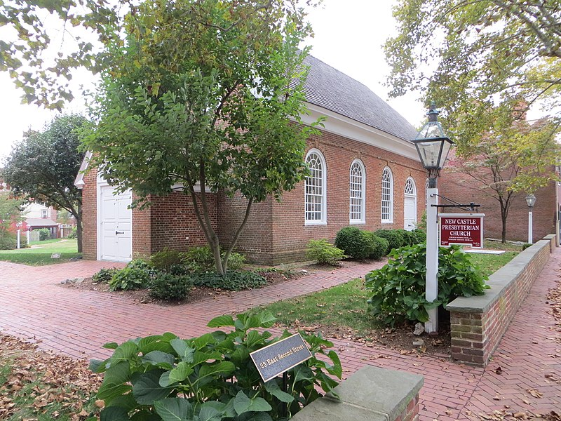 John Wilson (one of the original seven members of the first American Presbytery) was the first pastor at the New Castle, Delaware Presbyterian Church. This building was constructed in 1707.