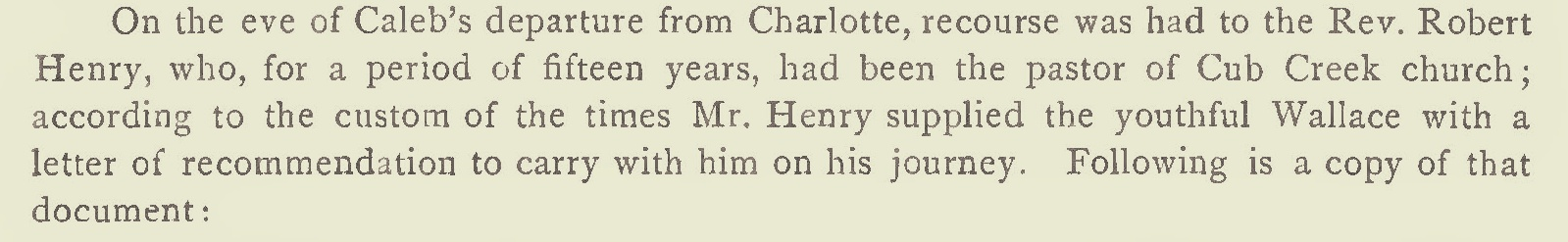 Henry, Jr., Robert, Letter of Recommendation Regarding Caleb Wallace Title Page.jpg