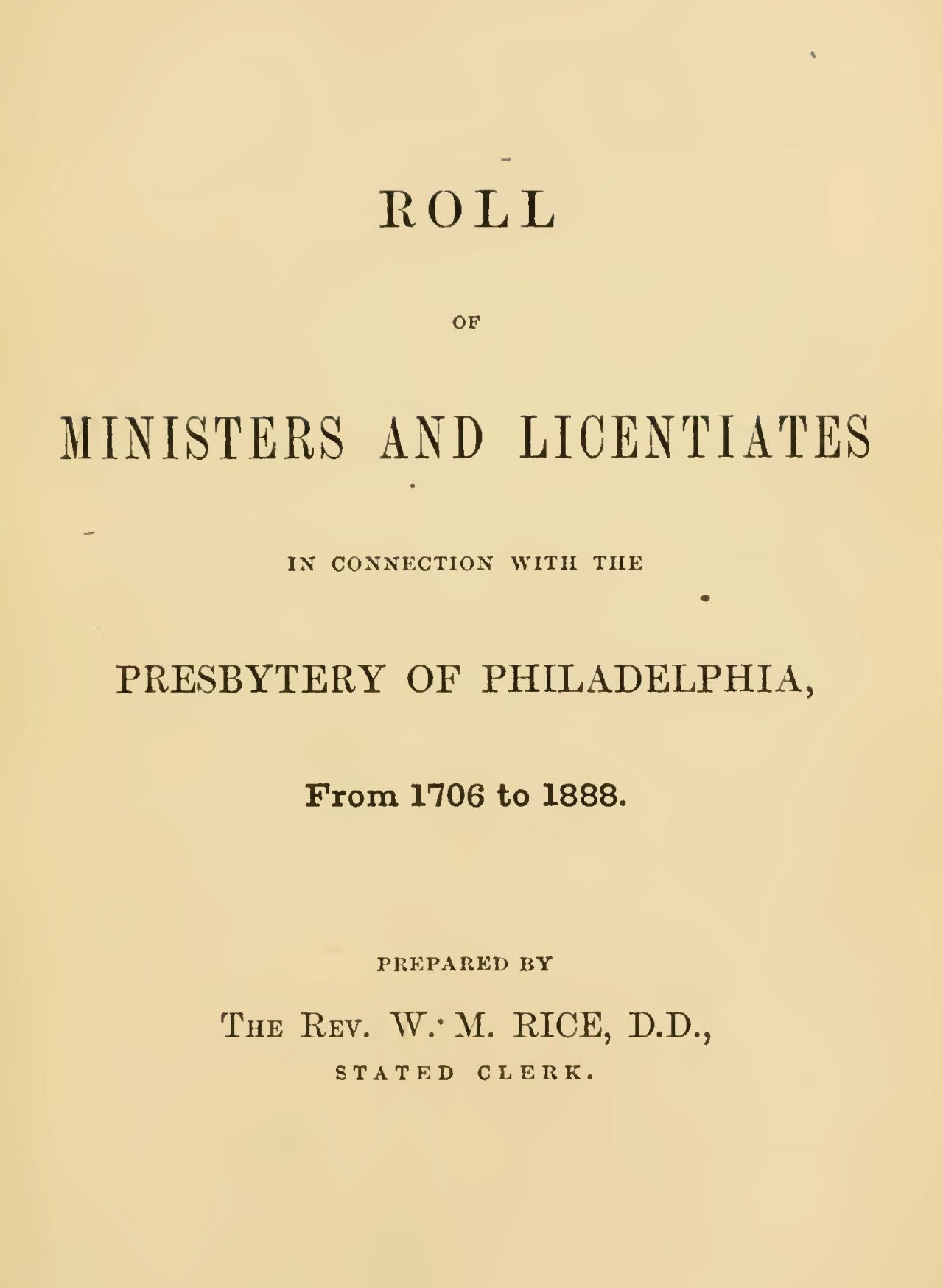 Rice, Willard Martin, Roll of Ministers Title Page.jpg