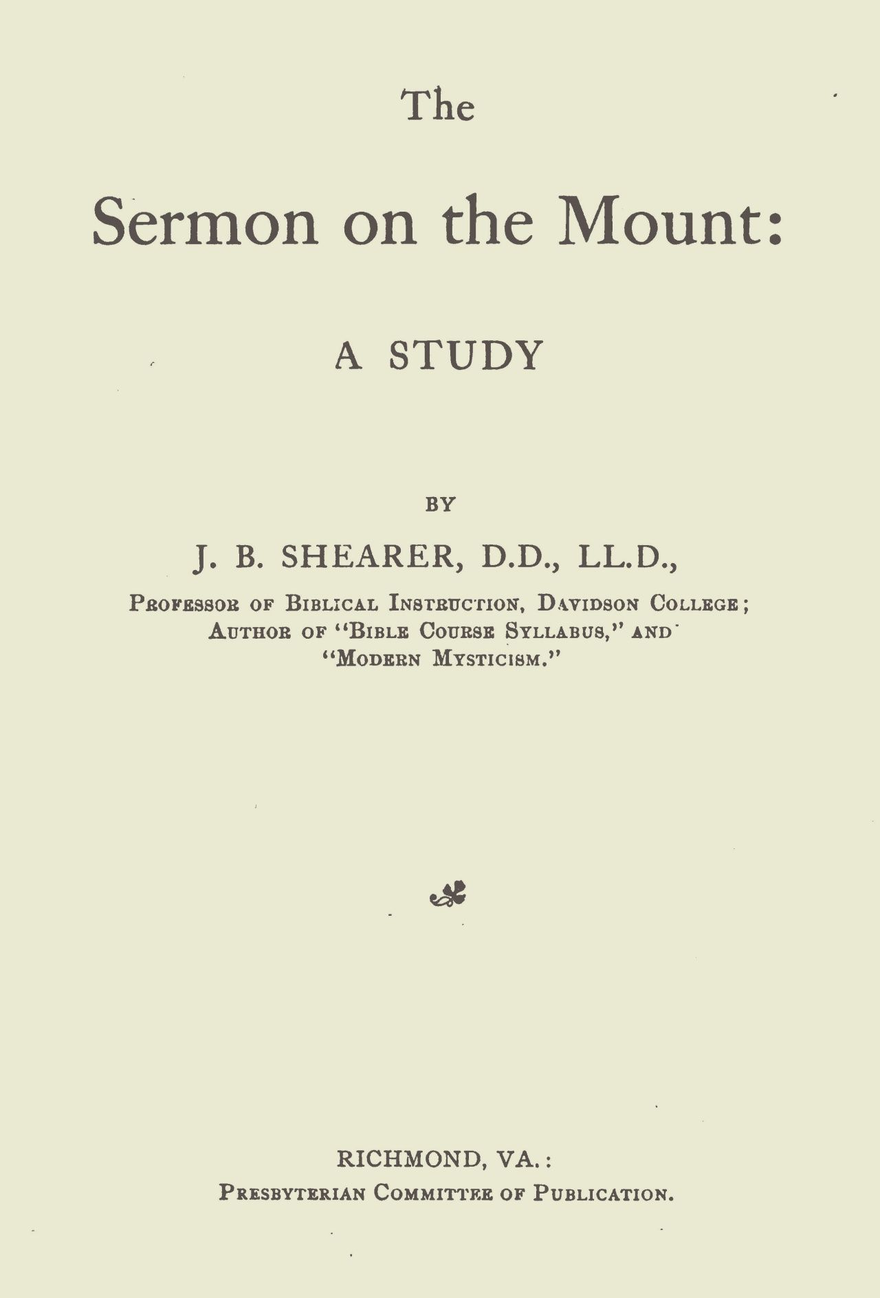 Shearer, John Bunyan, The Sermon on the Mount Title Page.jpg