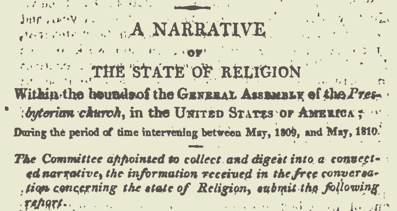 Janeway, Jacob Jones, A Narrative of the State of Religion 1810 Title Page.jpg