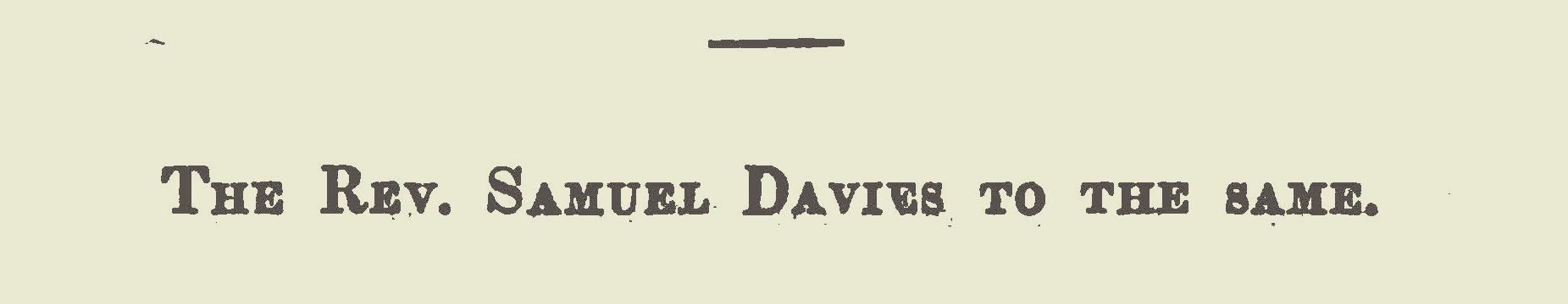 Davies, Samuel, September 29, 1753 Letter to Joseph Bellamy Title Page.jpg