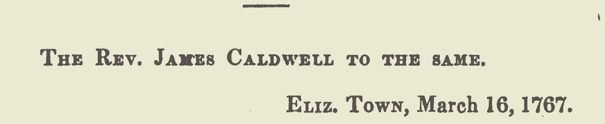 Caldwell, James, March 16, 1767 Letter to Joseph Bellamy Title Page.jpg