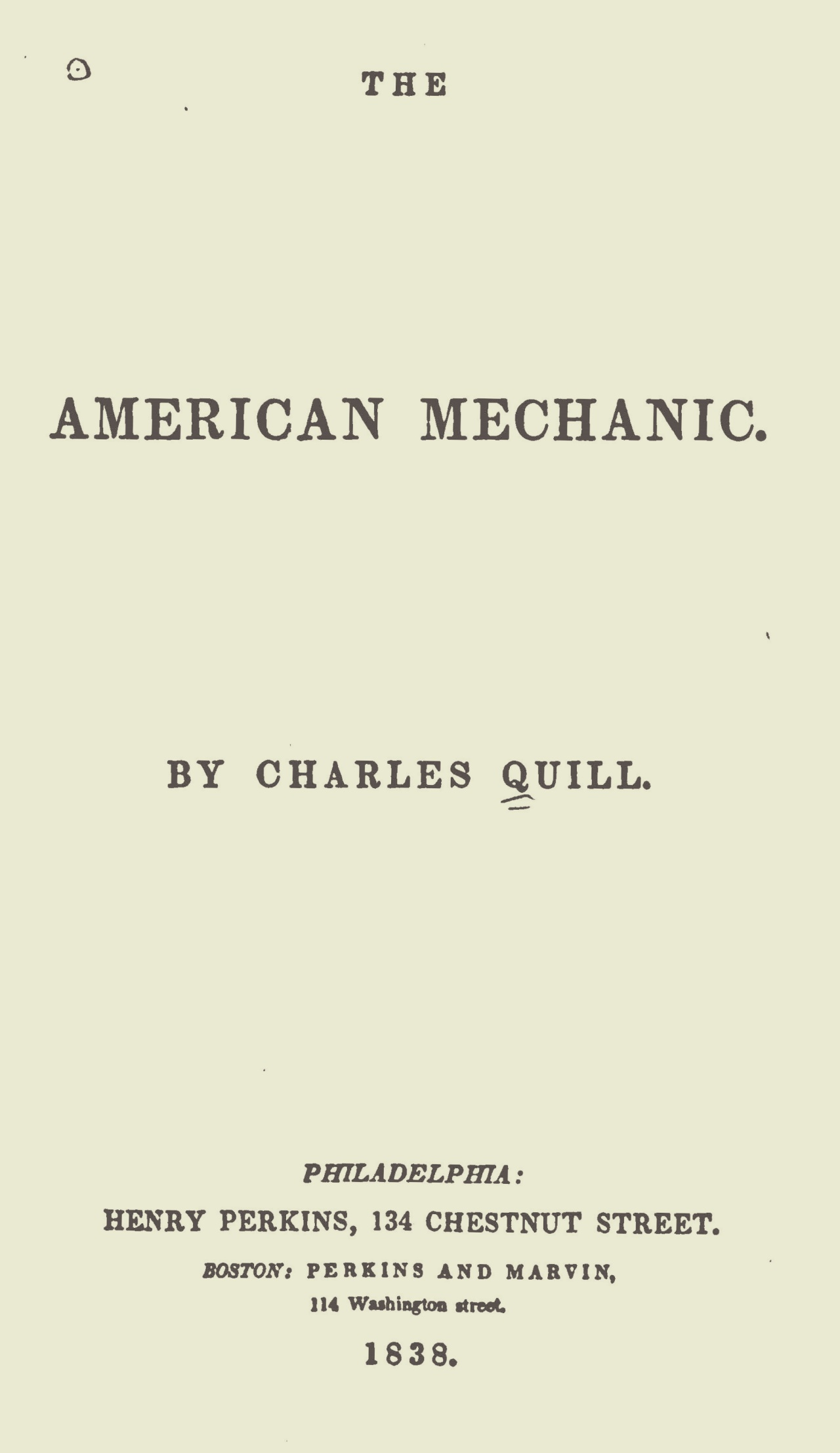 Alexander, James Waddel, The American Mechanic Title Page.jpg